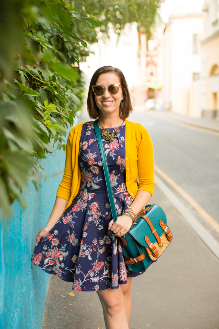 florals and cardigans