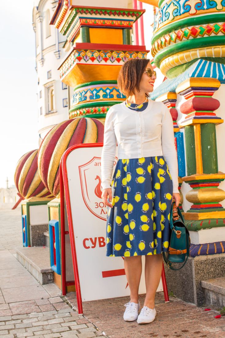 Styling a Lemon Print Dress