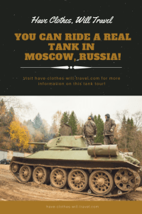 Tank Ride and Shooting Tour in Moscow Russia