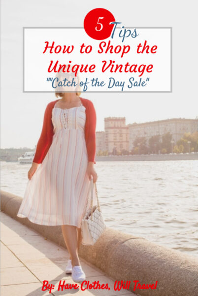 "Trying Out a Unique Vintage ""Catch of the Day"" Dress"