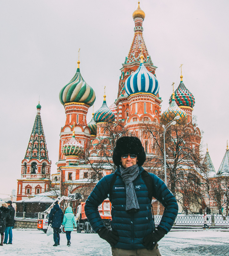 Zac at St. Basil's Cathedral