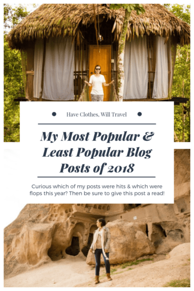 Have Clothes, Will Travel Most Popular & Least Popular Blog posts of 2018