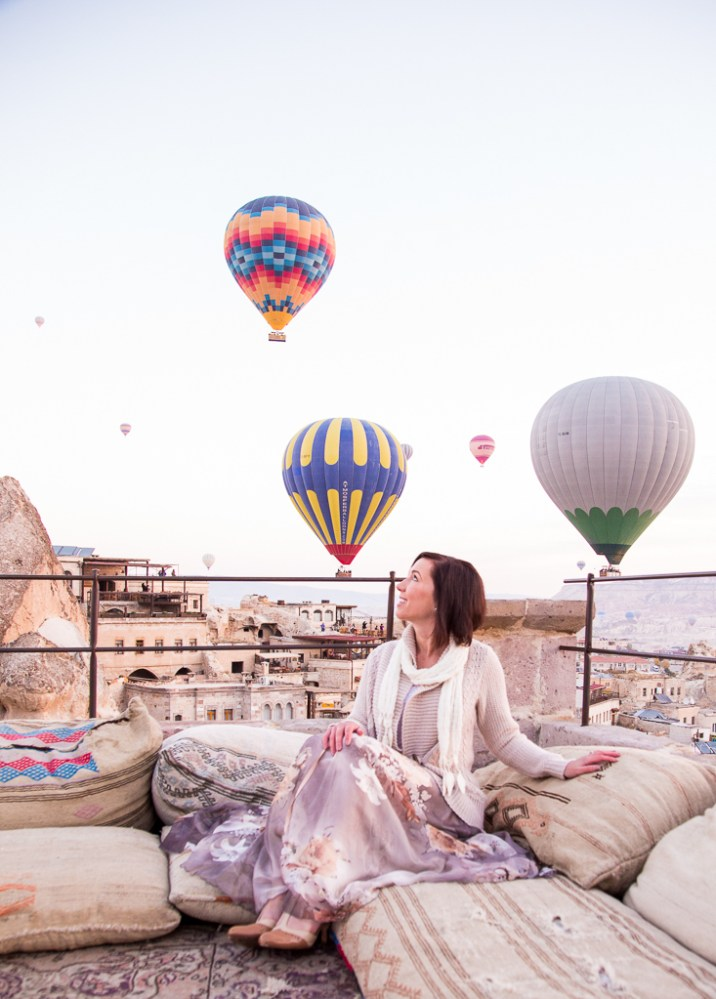 Hot Air Balloons + Floral Maxi Skirt