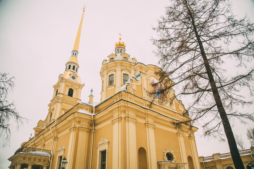 Peter and Paul Fortress in St. Petersburg Russia