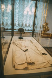 The bloody shirt of Nicholas II.