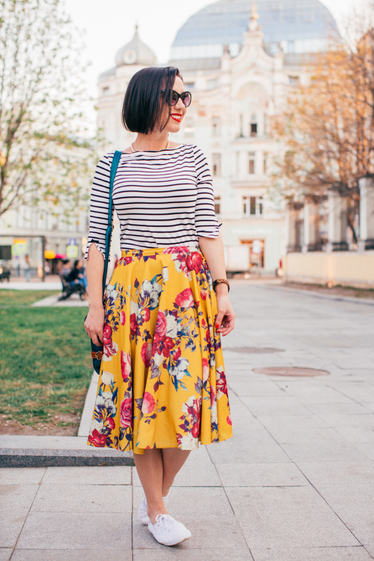 Pattern & Print Mixing – How to Wear Stripes & Florals Together