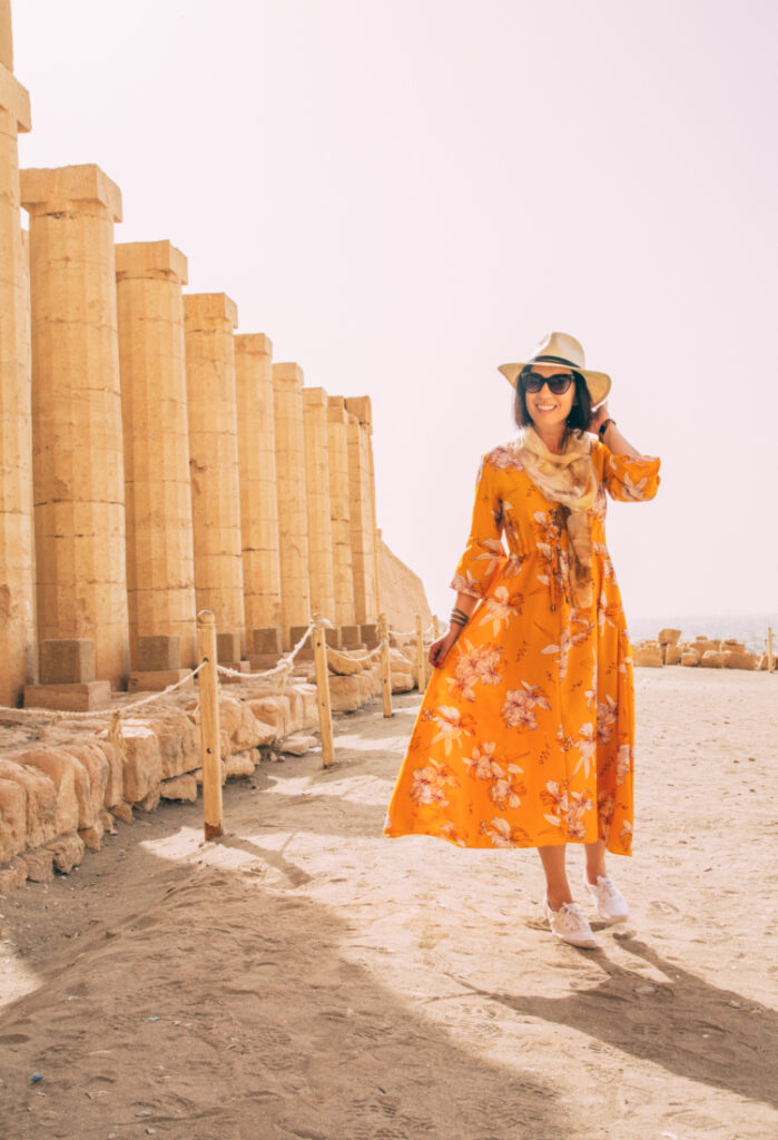 Floral Maxi Dress for the Valley of the Kings