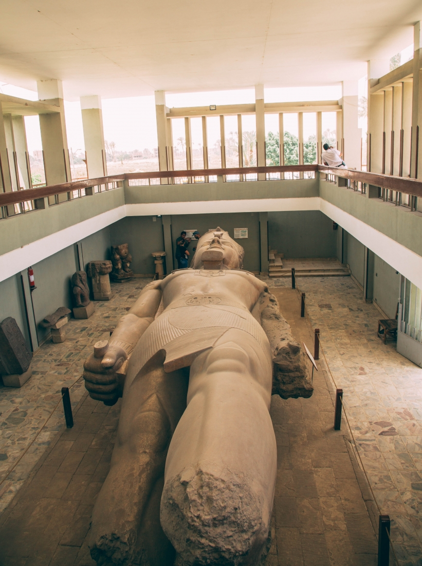 massive statue of Ramesses II