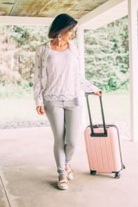 Travel Outfit + Minnetonka Moccasins