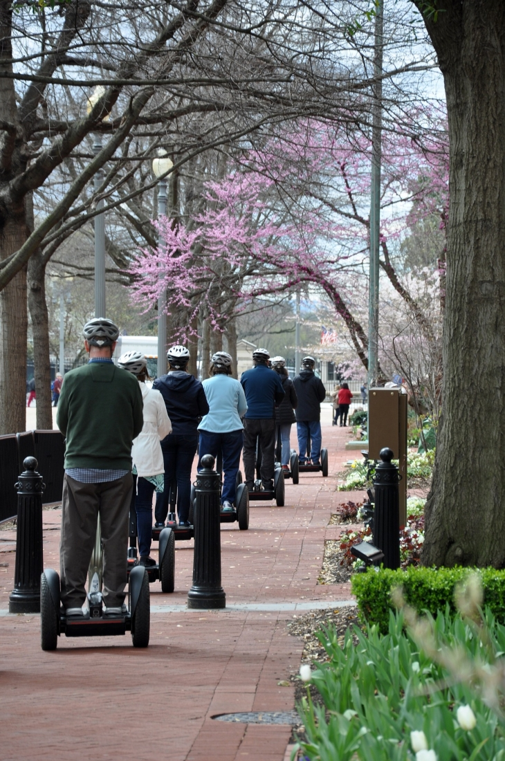 Taking a guided segway tour!