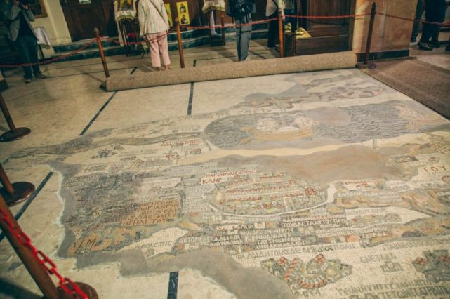 Madaba - The Madaba Map in the early Byzantine church of Saint George