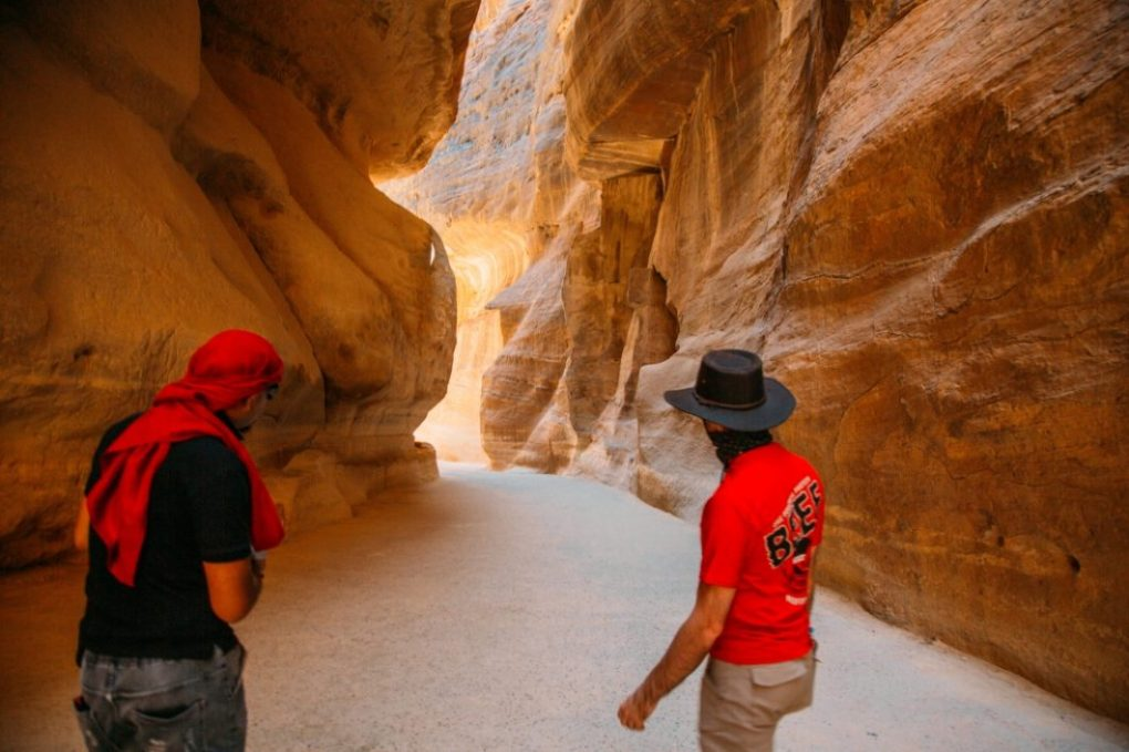 Our guide teaching us everything you ever wanted to know about Petra.
