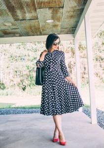 Every-Pretty Dress Review (Alisa Pan Long Sleeve Wear to Work Midi Dress)