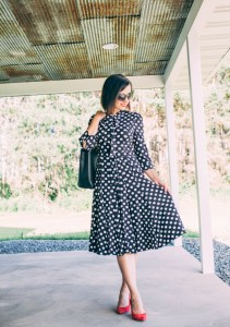 Every-Pretty Dress Review (Alisa Pan Long Sleeve Wear to Work Midi Dress)