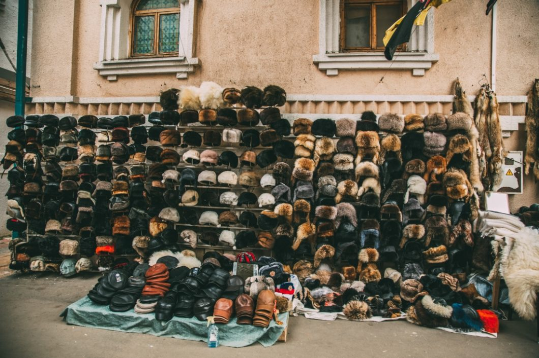 fur hats in moscow