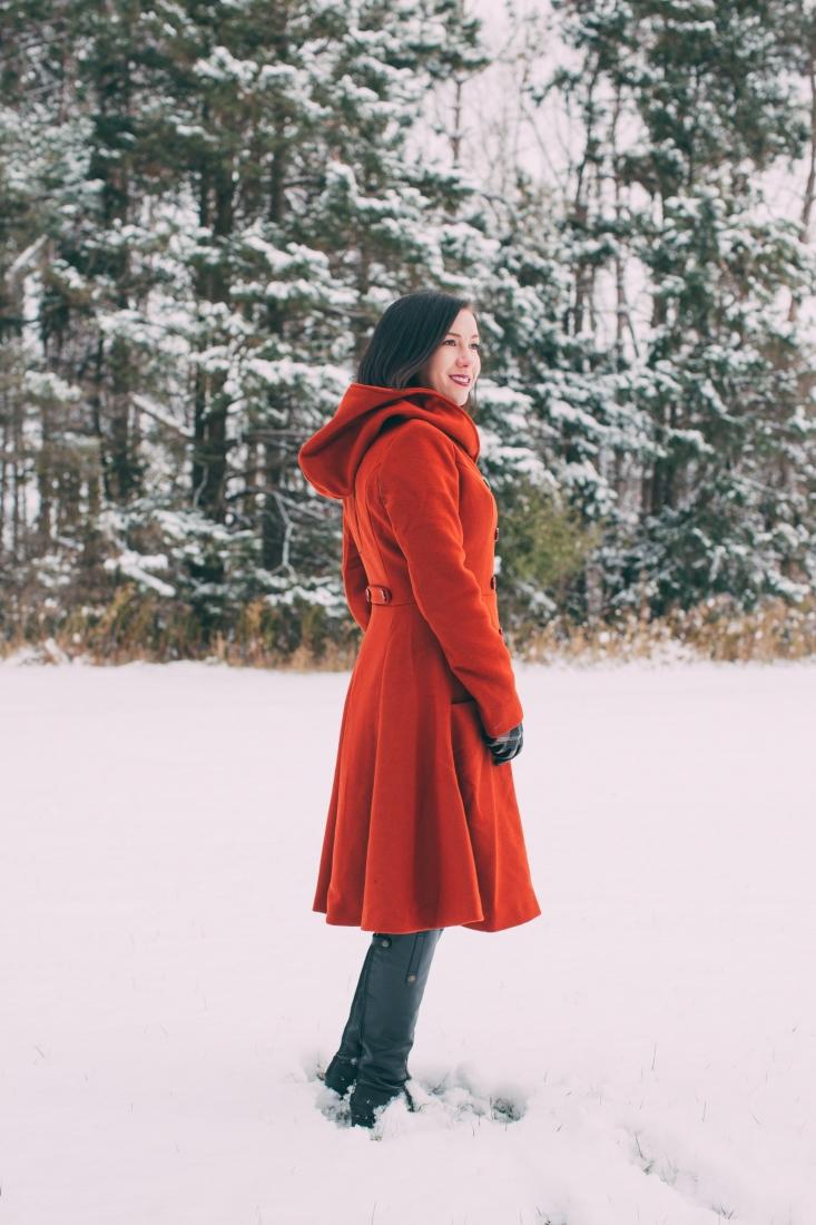 Beautiful & Warm Swing Coat for Winter Adventures in Wisconsin