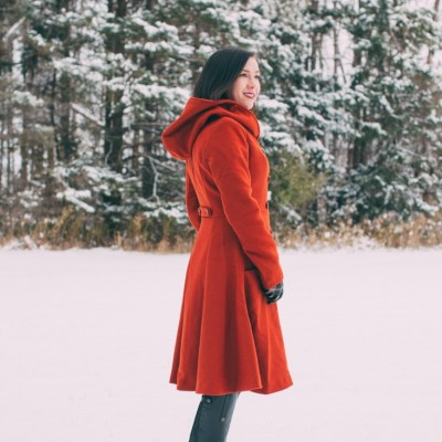 Beautiful & Warm Swing Coat for Winter Adventures in Wisconsin