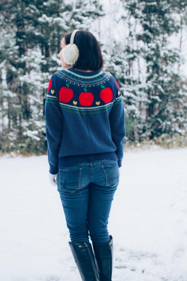 ModCloth Apple sweater