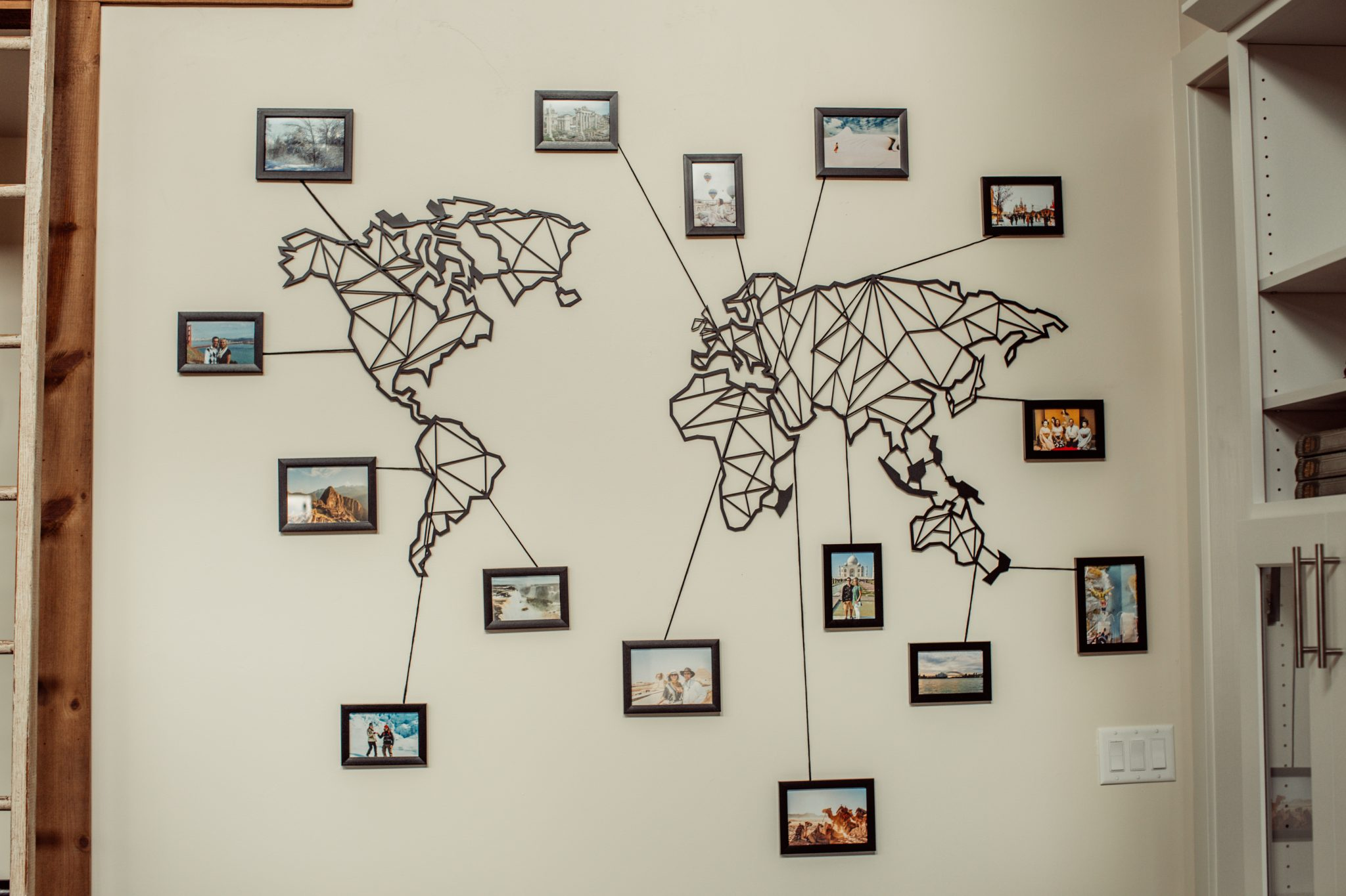 Travel Wall Ideas – How to Display Travel Photos & More!