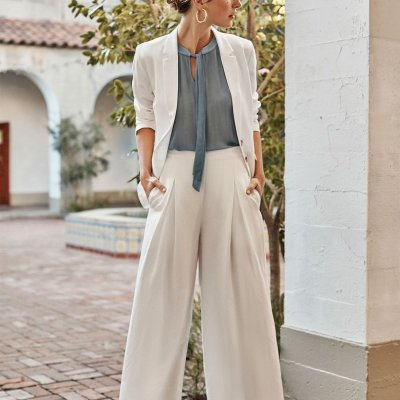 Deslin Pants in White