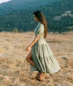 The Augusta Dress In Mullein Leaf