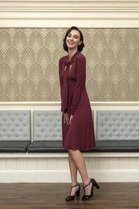 Danelle A-line long sleeve dress by DEVINTO