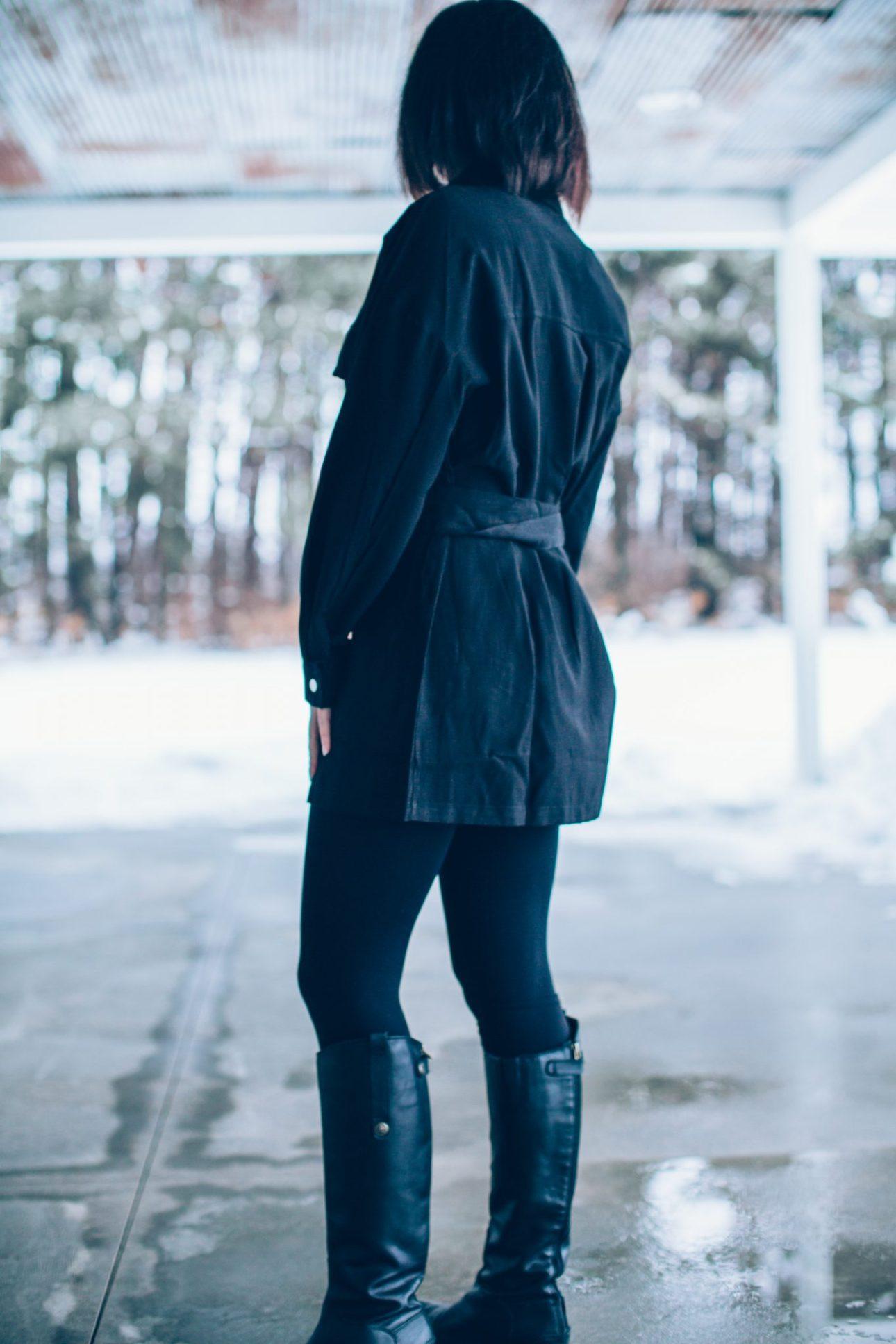 Black Mini Shirt dress