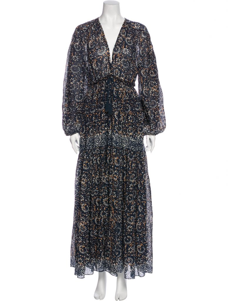 ULLA JOHNSON Floral Print Long Dress