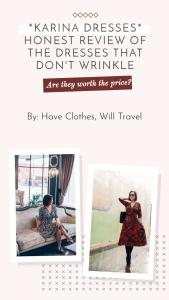 Honest Review of Karina Dresses – Vintage Style Dresses That Don't Wrinkle