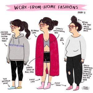 funny work from home fashion meme
