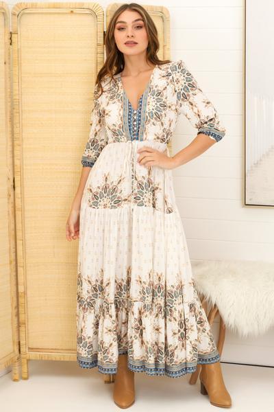 Salty Crush Tessa Gemstone Maxi Dress