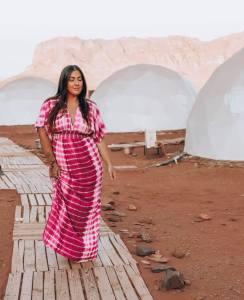 Ashley Jones at Memories Aicha Luxury Camp in Wadi Rum Jordan