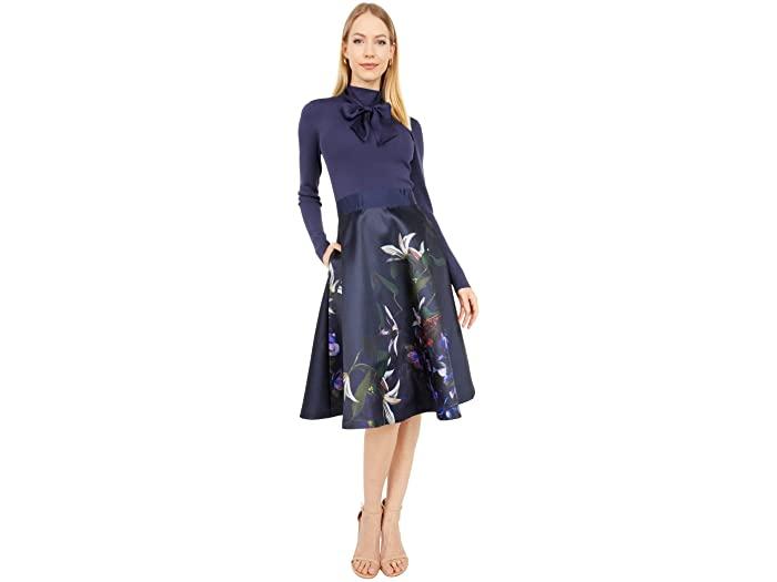 Ted Baker Dominaa Pomegranate Full Skirt Dress