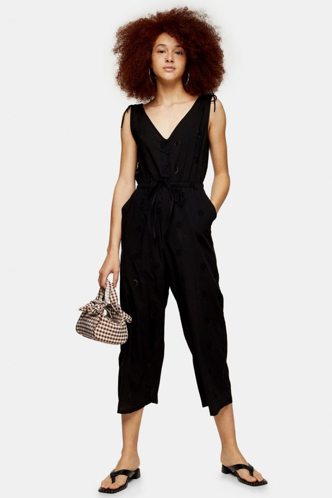Black Relaxed Embroidery Jumpsuit by Topshop - stores like Nordstrom