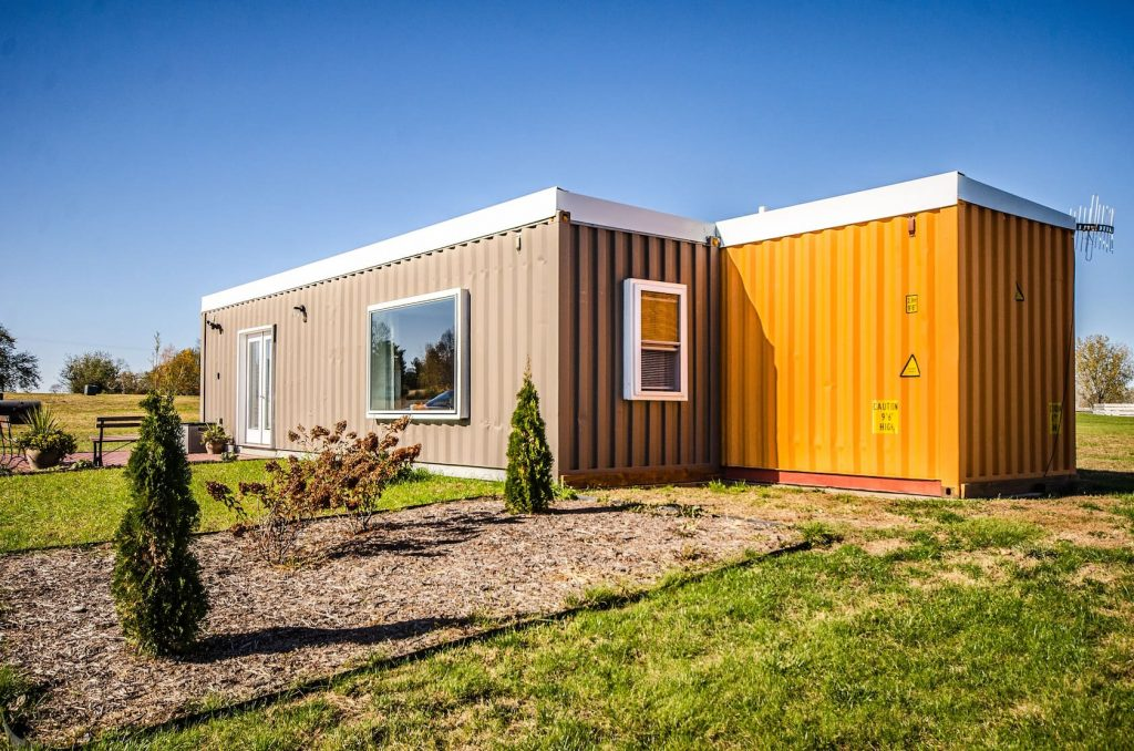 Shipping container tiny house in Wisconsin
