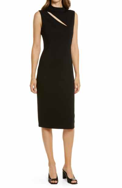 Sleeveless Cutout Ponte Dress HALOGEN®