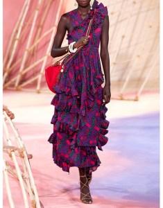 ULLA JOHNSON Imogen Printed Ruffled Maxi Dress