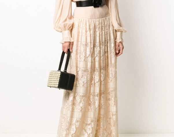 Valentino Pre-Owned lace blouse skirt set