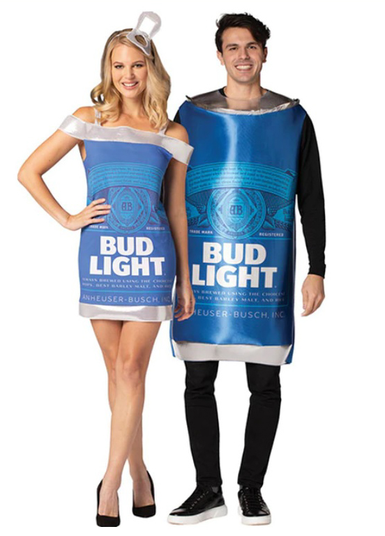 Bud Light Can and Dress Couples Costume