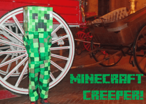 EASY MINECRAFT CREEPER COSTUME…THAT'S COMFY TO WEAR!