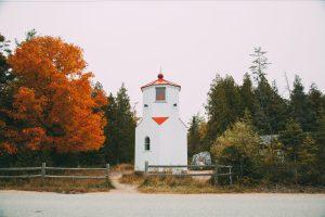 The Ridges Sanctuary lighthouse in Baileys Harbor