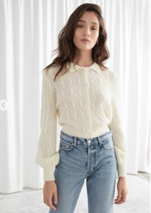 DESIGNED IN LOS ANGELES Alpaca Blend Cable Knit Cardigan