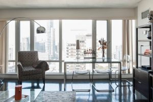 Take in Panoramic City Views from a Sophisticated Condominium