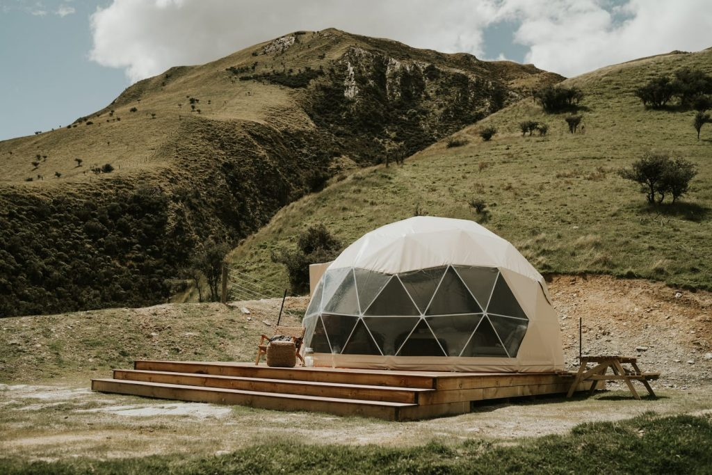 Geodesic dome with spectacular view!