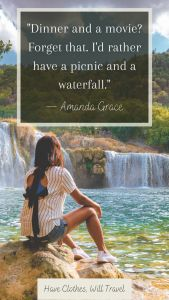 A Picnic and a waterfall quote