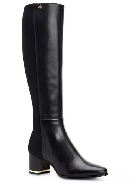 Calvin Klein Women's Freeda Tall Leather Boots