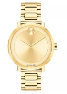 Movado Women's Swiss BOLD Gold-Tone Stainless Steel Bracelet Watch 34mm