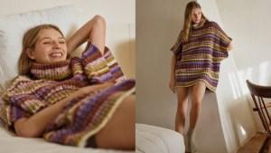 Multi-colored knit sweater