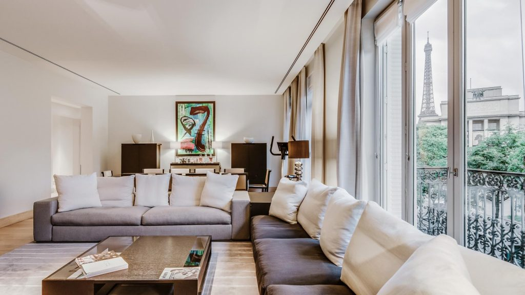 Modern Airbnb in Paris France with views of the Eiffel Tower