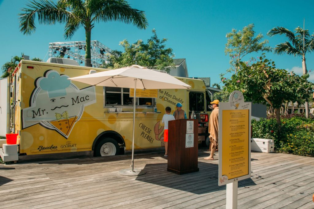 Mac and cheese truck at beaches turks and caicos
